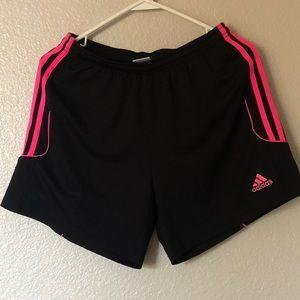 Adidas Climate 3 Stripes Black Activewear Shorts